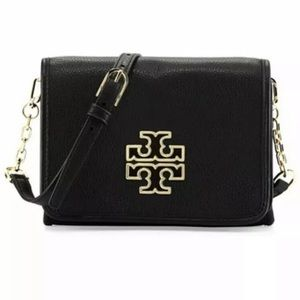 Tory Burch Britten Combo Pebbled Leather Crossbody